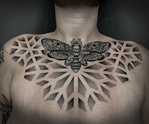 mandala dot work tattoo