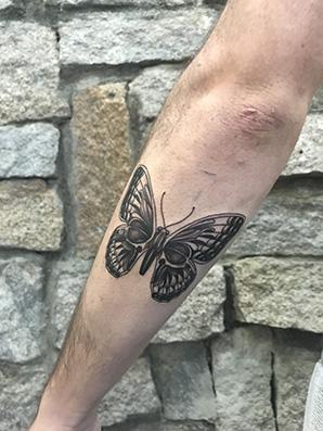Butterfly tattoo style blackwork