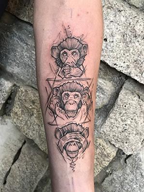 moneys sketch tattoo style